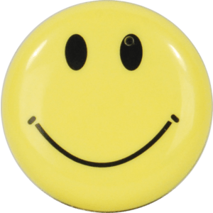 Smiley Face Button Hidden Camera Front View