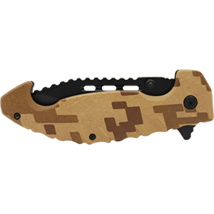 folding knife Brown Camo Folded View
