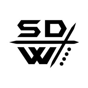 Security Defense Weapons Black on White Logo Letters Only