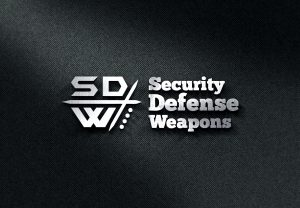 Security Defense Weapons Black on White Logo - Personal Protection Products for Sale