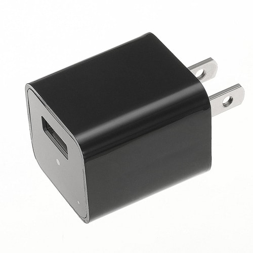 USB Charger Hidden Spy Camera with Built in DVR Side View