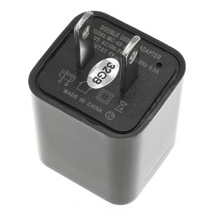 USB Charger Hidden Spy Camera with Built in DVR Bottom View