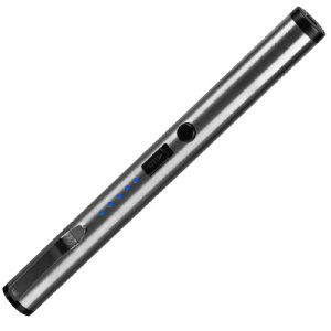 Silver Stun Pen Small Disguised Stun Gun Side View