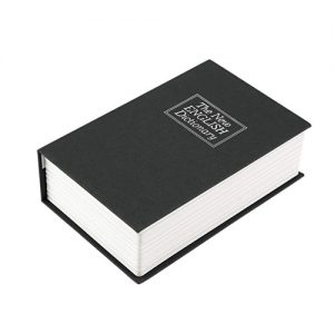 Book Diversion Safe with Key Lock Laying down Closed View