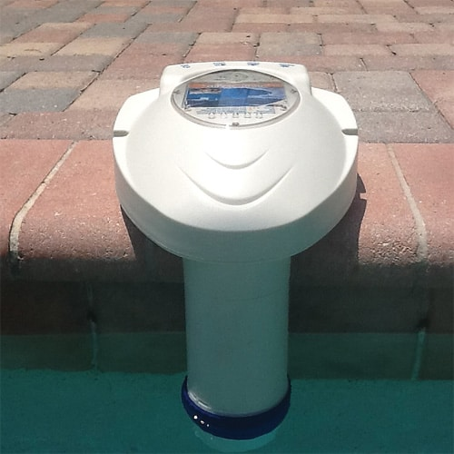Pool Alarm Front View In Water