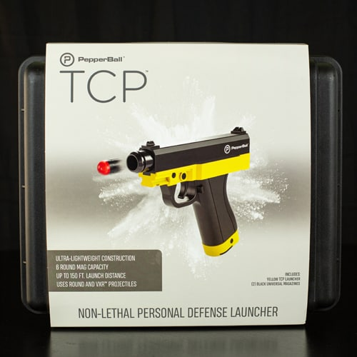 Tactical Compact Pistol PepperBall Launcher Viewed in Package