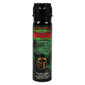Pepper Shot 1.2% MC 4 oz Pepper Spray Flip Top Model Front View