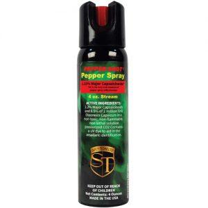 Pepper Shot 1.2% MC 4 oz Pepper Spray Stream Model Front View