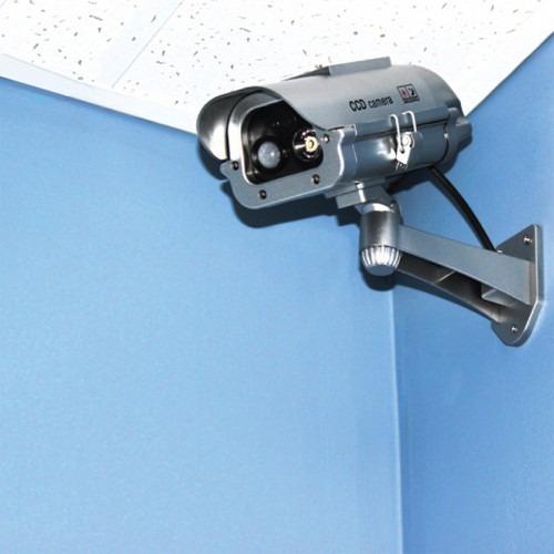 Solar Powered Dummy Camera with Motion Activated Flashing LED